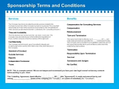 Corporate Partnership Sponsorship Terms And Conditions Ppt Professional Icon PDF