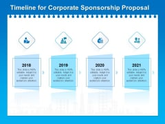 Corporate Partnership Timeline For Corporate Sponsorship Proposal Template PDF