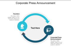 Corporate Press Announcement Ppt PowerPoint Presentation Inspiration Rules Cpb
