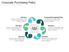 Corporate Purchasing Policy Ppt PowerPoint Presentation Infographics Smartart Cpb