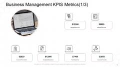 Corporate Regulation Business Management Kpis Metrics Accounts Ppt Layouts Grid PDF
