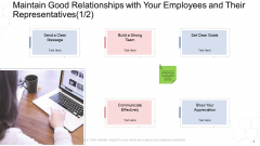 Corporate Regulation Maintain Good Relationships With Your Employees And Their Representatives Build Ppt Portfolio Graphics PDF