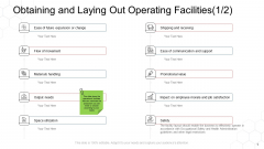 Corporate Regulation Obtaining And Laying Out Operating Facilities Ease Ppt File Graphics PDF