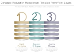 Corporate Reputation Management Template Powerpoint Layout