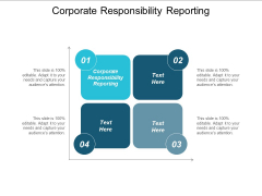 Corporate Responsibility Reporting Ppt PowerPoint Presentation Inspiration Aids Cpb