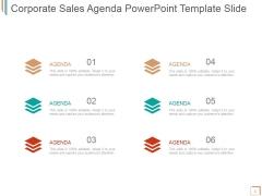Corporate Sales Agenda Ppt PowerPoint Presentation Slide
