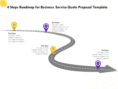 Corporate Service Quote 4 Steps Roadmap For Business Service Quote Proposal Template Professional PDF