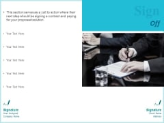 Corporate Sign Off Ppt Ideas Slide Download PDF