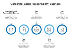 Corporate Social Responsibility Business Ppt PowerPoint Presentation Layouts Objects Cpb