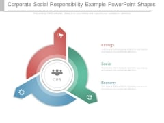 Corporate Social Responsibility Example Powerpoint Shapes