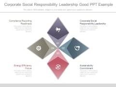 Corporate Social Responsibility Leadership Good Ppt Example