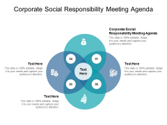 Corporate Social Responsibility Meeting Agenda Ppt PowerPoint Presentation File Tips Cpb