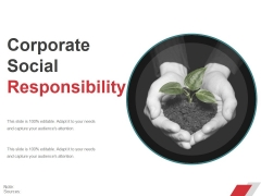 Corporate Social Responsibility Ppt PowerPoint Presentation Ideas Elements