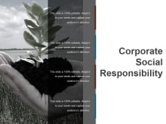 Corporate Social Responsibility Ppt PowerPoint Presentation Pictures Gridlines