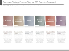 Corporate Strategy Process Diagram Ppt Samples Download