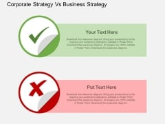 Corporate Strategy Vs Business Strategy Powerpoint Template