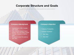 Corporate Structure And Goals Ppt PowerPoint Presentation File Introduction PDF
