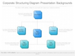 Corporate Structuring Diagram Presentation Backgrounds