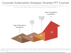 Corporate Sustainability Strategies Template Ppt Example