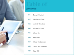 Corporate Table Of Contents Ppt Infographic Template File Formats PDF