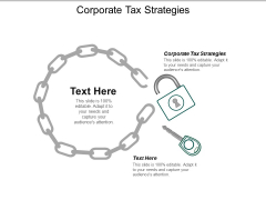 Corporate Tax Strategies Ppt PowerPoint Presentation Icon Example Cpb