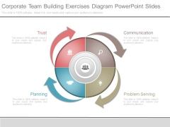 Corporate Team Building Exercises Diagram Powerpoint Slides