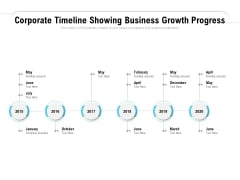 Corporate Timeline Showing Business Growth Progress Ppt PowerPoint Presentation Inspiration Background Image
