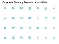 Corporate Training Roadmap Icons Slide Gear Ppt PowerPoint Presentation Show Graphic Images