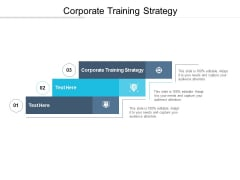 Corporate Training Strategy Ppt PowerPoint Presentation Guide Cpb