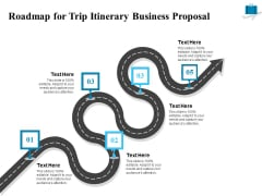 Corporate Travel Itinerary Roadmap For Trip Itinerary Business Proposal Ppt Summary Demonstration PDF