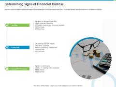 Corporate Turnaround Strategies Determining Signs Of Financial Distress Designs PDF