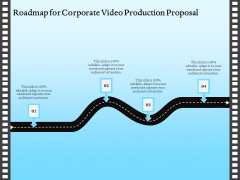 Corporate Video Roadmap For Corporate Video Production Proposal Icons PDF