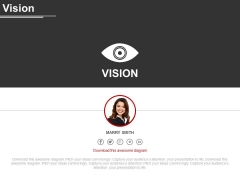 Corporate Vision And Mission Analysis Diagram Powerpoint Slides