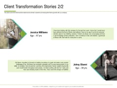 Corporate Wellness Consultant Client Transformation Stories Diagrams PDF