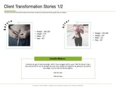 Corporate Wellness Consultant Client Transformation Stories Teamwork Pictures PDF