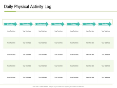 Corporate Wellness Consultant Daily Physical Activity Log Diagrams PDF