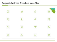 Corporate Wellness Consultant Icons Slide Diagrams PDF