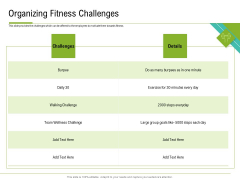 Corporate Wellness Consultant Organizing Fitness Challenges Formats PDF