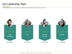 Corporate Wellness Consultant Our Leadership Team Formats PDF