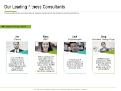 Corporate Wellness Consultant Our Leading Fitness Consultants Structure PDF