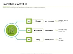 Corporate Wellness Consultant Recreational Activities Ideas PDF