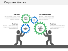 Corporate Women Ppt PowerPoint Presentation Infographics Example Topics Cpb