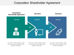 Corporation Shareholder Agreement Ppt PowerPoint Presentation Styles Shapes Cpb