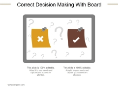 Correct Decision Making With Board Ppt PowerPoint Presentation Deck