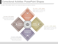 Correctional Activities Powerpoint Shapes