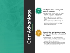 Cost Advantage Template 1 Ppt PowerPoint Presentation Model Outfit