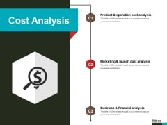 Cost Analysis Ppt PowerPoint Presentation File Show