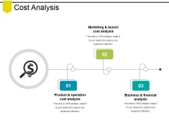 Cost Analysis Ppt PowerPoint Presentation Infographics Visual Aids