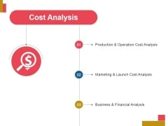 Cost Analysis Ppt PowerPoint Presentation Slides