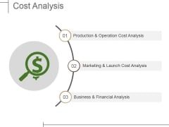 Cost Analysis Ppt PowerPoint Presentation Summary Show